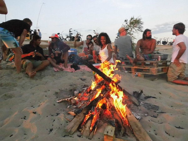 Beachparty Beachphotography Bonfire Burning Campfire Celebration Day Fire Fire - Natural Phenomenon Firewood Flame Glowing Heat - Temperature Large Group Of People Outdoors People Person Sand Tourism Vacations