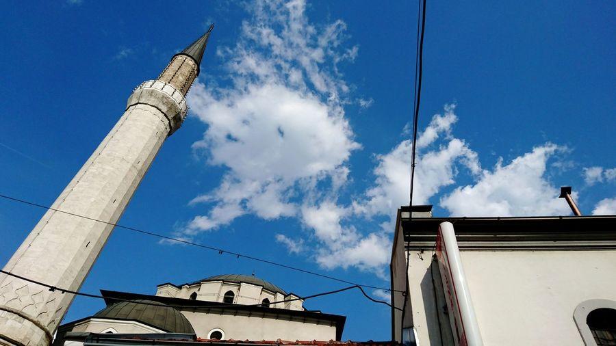 Sarajevo Bey Mosque Sky Blue Cloudporn Clouds And Sky