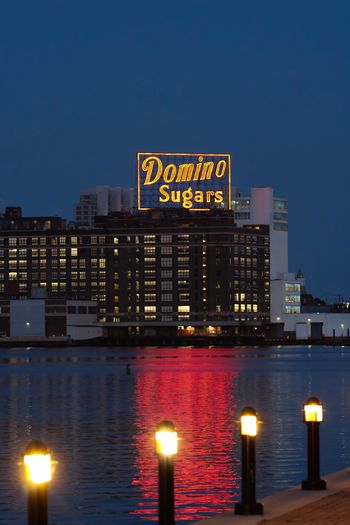 City Domino Sugar Waterfront Baltimore Harbor Architecture Illuminated Built Structure Night City Building Exterior Building Urban Skyline Nature Travel Destinations Water No People Sky Office Building Exterior Cityscape Communication Sign Outdoors Skyscraper 10