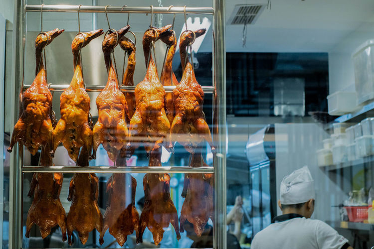 Day Duck Ducks Food Food And Drink For Sale Freshness Hanging Indoors  Meat No People Retail  Store