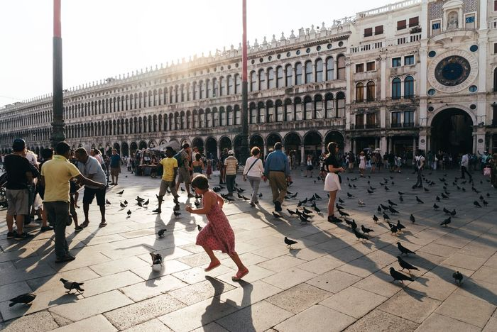 Large Group Of People Architecture Built Structure Walking Building Exterior City Life City City Venice Summer Summertime Holiday Holidays Missing Summer