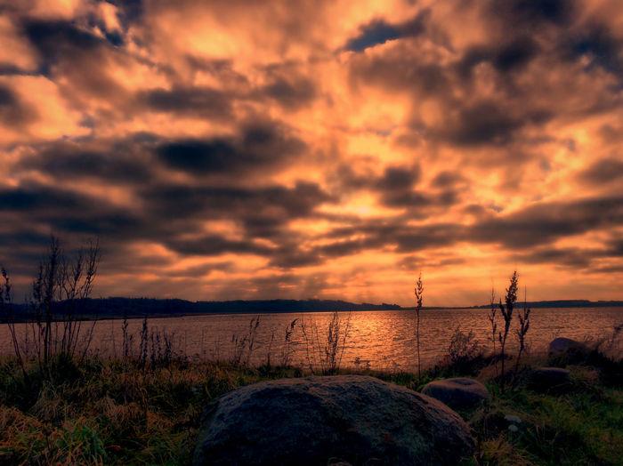 Tadaa Community Danmark Sebbersund Clouds And Sky Sunset Sun Reflection