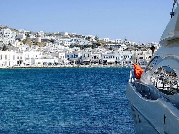 Boats Greece, Loutraki Mikonos Suns Nautical Vessel Sky Transportation Water Yacht Yachting