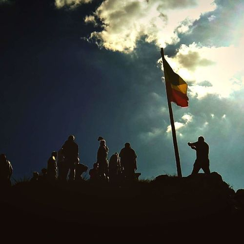 Flag Silhouette Patriotism Sky Low Angle View Cloud - Sky Outdoors People Amateurphotography Nature Cameringo Romania Romanianflag Mountain Râșnov Rasnov Citadel Summer Sunny