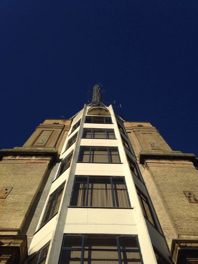 BBC Tower Alexandra Palace Building Exterior Architecture Low Angle View Clear Sky Built Structure Antenna - Aerial Windows