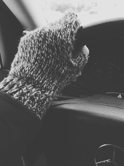 Winter Winter Gloves Cold Mercedes-Benz Wool Hand Driving Blackandwhite