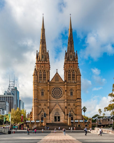 St. Mary's Cathedral in Sydney Architecture Australia Building Exterior Cathedral Church City Cityscape Sydney Sydney, Australia Tower Travel Destinations