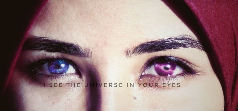 Galaxy In A Eye One Woman Only Beautiful Woman Portrait Close-up Beauty Looking At Camera Eyse