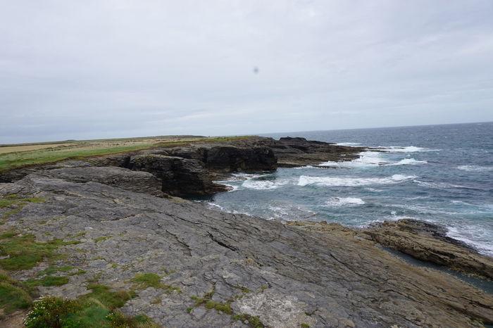 The wild Irish coast. Beauty In Nature Cliff Coast Coastline Day Horizon Over Water Ireland Ireland🍀 Landscape Nature No People Outdoors Scenics Sea Water Waves Wild Nature