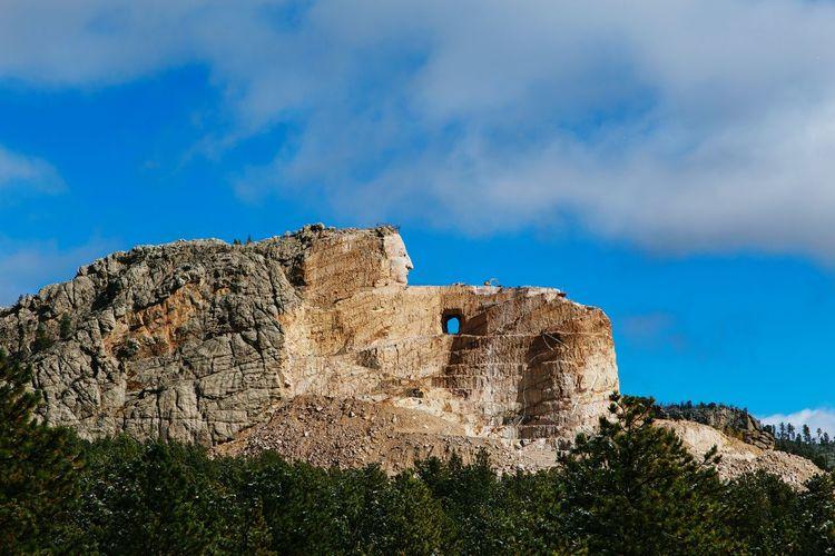 Crazy Horse History Sky Cloud - Sky Blue Outdoors No People South Dakota South Dakota Usa Travel Destinations South Dakota. American West Southdakota Nature Western America Crazy Horse Memorial Crazy Horse Crazy Horse.