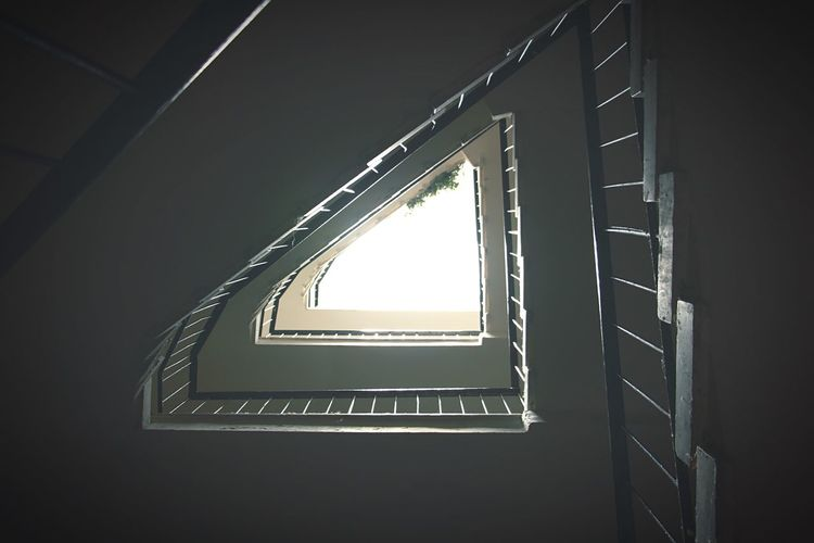 Stairs Building Sunlight Triangle