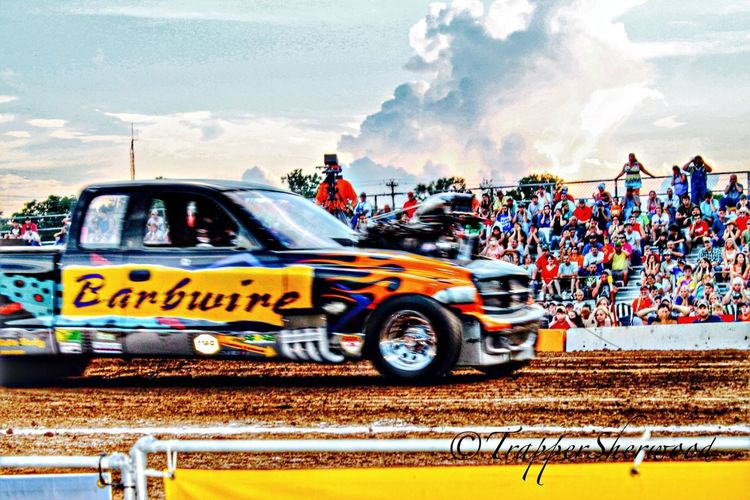 Adding some horsepower to Barbed Wire Wednesday Hdr_Collection Taking Photos Tractor Pull