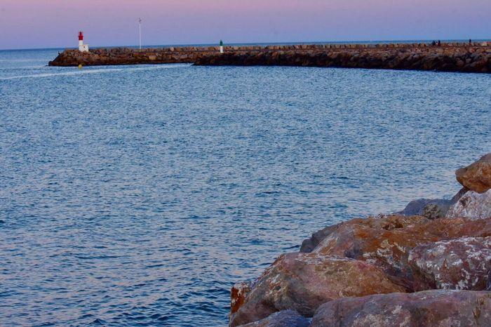 Lighthouse Sea Sea And Sky Bluehour Sunset Eyem Market Eyem Nature Lovers  EyeEm