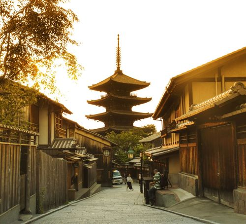 Golden hour in Kyoto Pagoda Kyoto Kyoto, Japan Kyoto Street Far East Japan Photography Japanese  Japan Scenery Japanese Architecture Spring Dusk In The City Sunset Sunset_collection Nippon Nippon Culture Association