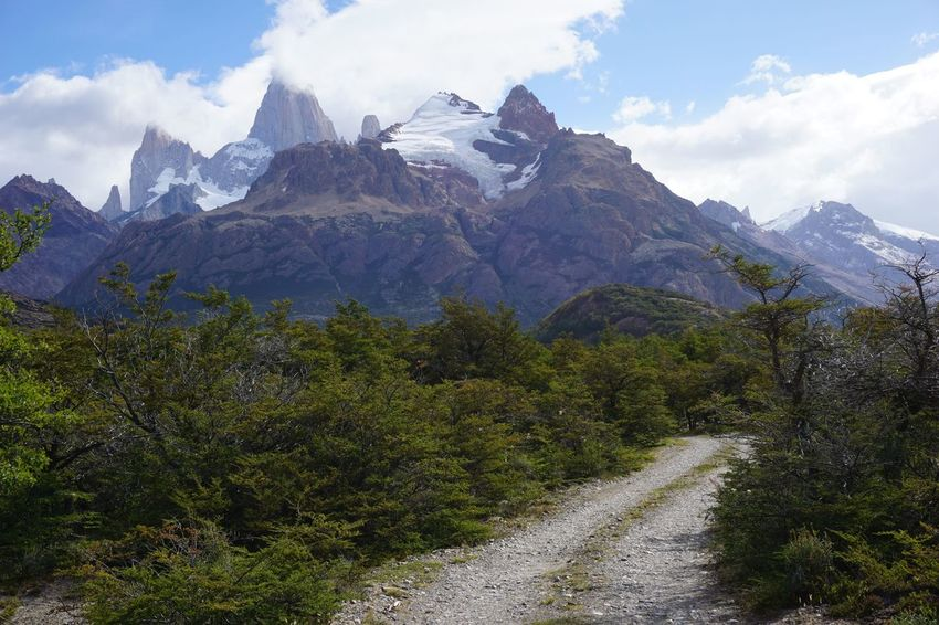 Adventure Travel Argentina Beauty In Nature Countryside Landscape Los Huemules Majestic Mount Fitz Roy Mountain Mountain Range Outdoors Patagonia Remote Solitude The Way Forward Tranquil Scene Trekking