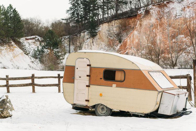 Camper caravan Caravan Camperlife Camper Winter Travel Land Vehicle Transportation Beauty In Nature Mode Of Transportation Snow Cold Temperature White Color Van Trip Adventure Journey Travelling