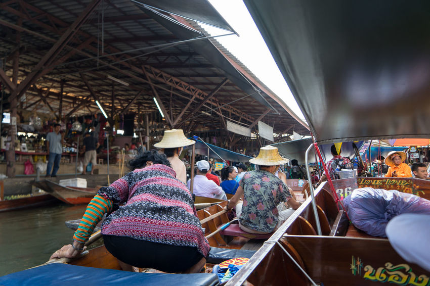 Bangkok Thailand. EyeEmNewHere Architecture Built Structure Crowd Day Floating On Water Large Group Of People Leisure Activity Lifestyles Market Men Outdoors People Real People Sitting Sky Sonya7m2 Women Stories From The City