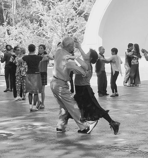 Large Group Of People Full Length People Day Dancing Ballroom Outdoors Senior Adult Shanghai, China TheWeekOnEyeEM EyeEmBestPics EyeEm Best Shots EyeEmNewHere EyeEm Selects Black And White Friday