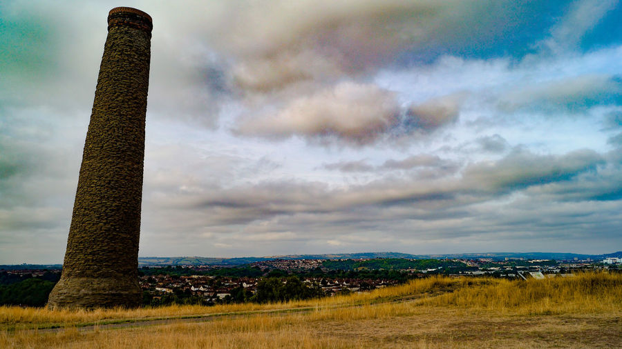 EyeEmNewHere Cityscape Troopers Hill Bristol Bristol, England Historic View Viewpoint Sunset Rural Scene Sea Storm Cloud Dramatic Sky Sky Landscape Cloud - Sky Grass