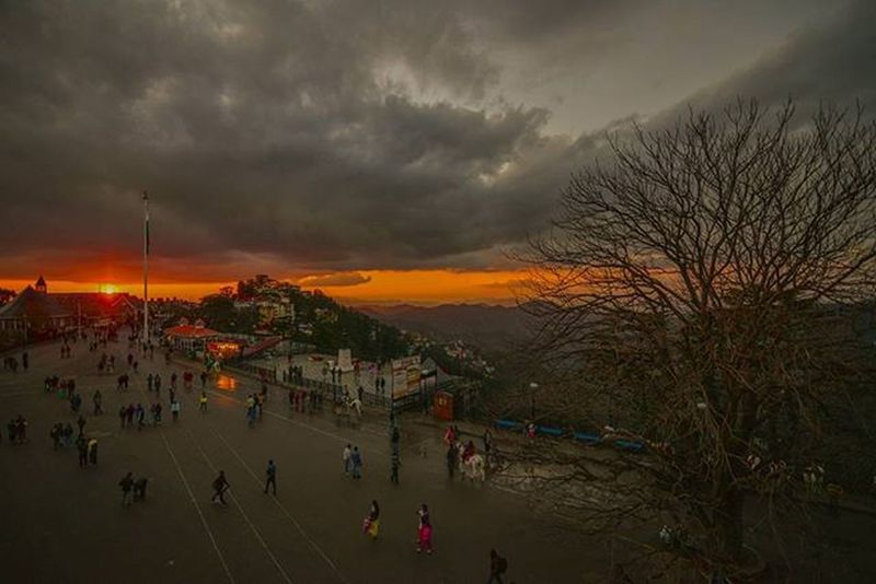 Colorful Sunset Shimla Simla Shivalik Sun Himalaya Himachalpradesh Indianhimalayas Like Comment Instagram Mountain Clouds India Traveldairies Traveller Wanderer Nikon Tokina Photography D610 Ankitdogra
