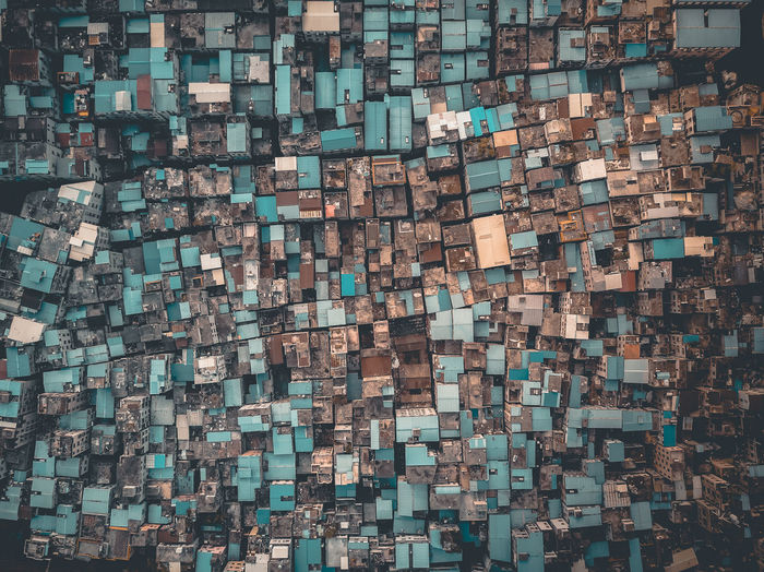 Drone shot of cityscape