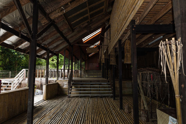 Interior view of a Bidayuh long house in Sarawak where many families live together in a community. Community EyeEmNewHere Architecture Bidayuh Built Structure Day Indoors  Long House No People Sarawak Staircase Steps Steps And Staircases The Way Forward Traditional Wood - Material