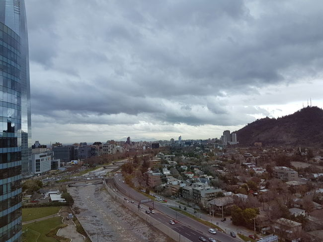 Neighborhood Map Santiago De Chile Sky And Clouds Cityscape Cloudy Day