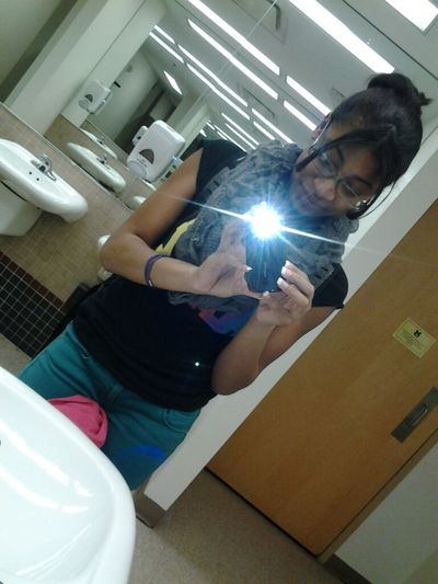 In The School Bathroom. Lunch Time I Think.