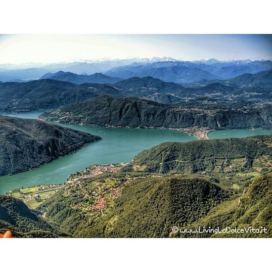 Spectacular view from the Monte Generoso on the boarder of Italy and Switzerland over Lago di Lugano, Ticino and Varese province LivingLaDolceVita