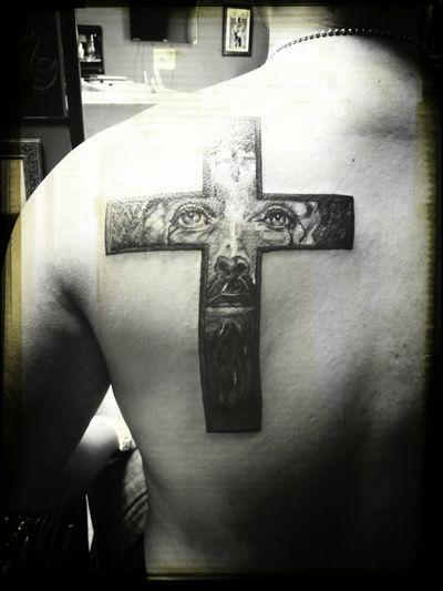 TattoosByDanLopez Danlopeztattoos Crosstattoo Religioustattoo