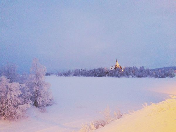 Snow Cold Temperature Winter Nature Tree Lake Outdoors Scenics Beauty In Nature Tranquility Mountain Water Sky One Person Day People Church Lapland Architecture Ice Walk Polar Climate Polar Night Eyem Gallery Eyemphotography