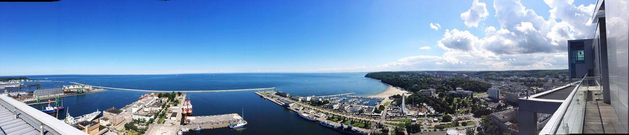 Baltic Sea Relaxing Enjoying Life Panoramic Photography