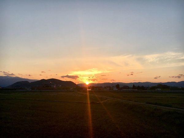 良い夕日でした。 今日の夕空