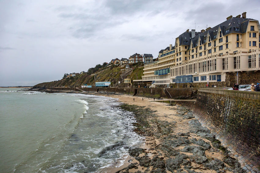 France Normandie, France Architecture Beauty In Nature Building Exterior Built Structure Cloud - Sky Day Granville Nature No People Outdoors Scenics Sea Sky Travel Destinations Water