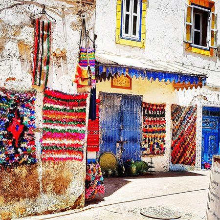 Essaouira Maroccan Style Marocco Style Marocco Multi Colored Graffiti Street Art Architecture Building Exterior Built Structure