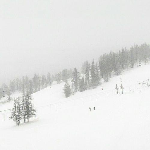 Alert Powder on Serrechevalier Today !! :-) Powpow Snow ❄ Skiresort Frenchalps Skiing ❄ Holidays Instalove