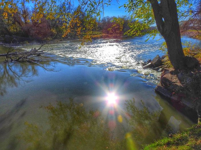 Water Tranquility Reflection Beauty In Nature Outdoors River Baltic Southdakota P900 Nikon Nikonphotography Sun Star Sun Blast Hdr_Collection