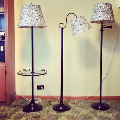 My redone lamps for living room. They use to be gold/brass look. Think they turned out nice.