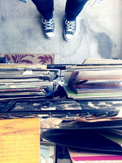 Recycle Vinyl Vinyl Records Shoes Converse EyeEmNewHere Thrifting Thrift Shop Records Record Bin Reuse