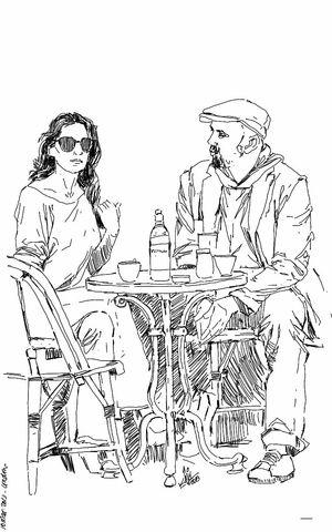 Art Cafe Drawing Kaay