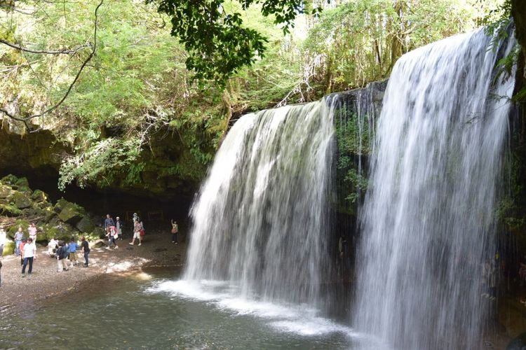 CMでも有名な鍋ヶ滝。 九州 熊本 鍋ヶ滝
