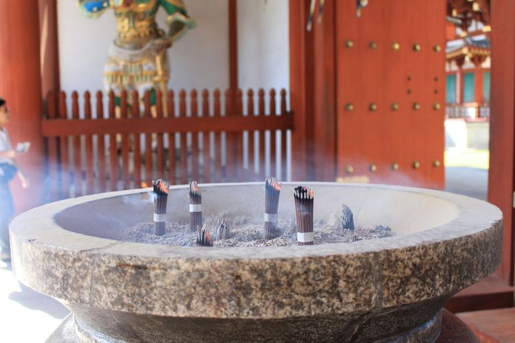 Relaxing Enjoying Life Hello World Relaxing Temple 薬師寺ー(・∀・)bお寺さんは落ち着くね(笑)皆さんに幸福をーなんてね(*゚▽゚*)(笑)