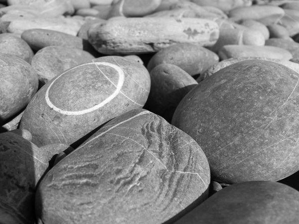 Beauty In Nature Black And White Blackandwhite Photography Circle Close-up Day Italian Beach Italy Large Group Of Objects No People On The Beach Outdoors Pepple Beach Pepples Stones