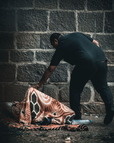 waking up The Photojournalist - 2019 EyeEm Awards City Ghetto Crime Full Length Brick Wall Spooky The Street Photographer - 2019 EyeEm Awards