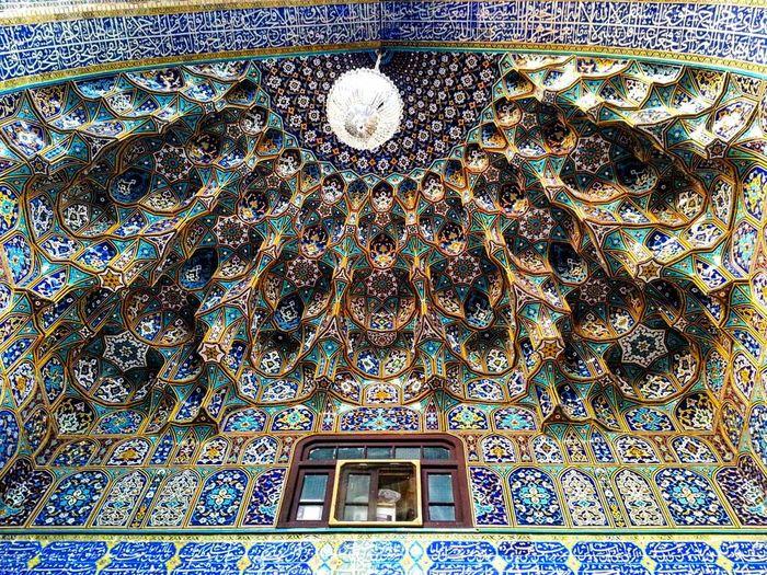 Beautiful tile work of a mosque based in Iran Mosque Iran Irantravel Mashhad Mashhad | مشهد Mashhadcity ImamRezaHolyShrine Iranian Architecture Colorful Colorfulbuilding EyeEmNewHere Tilework