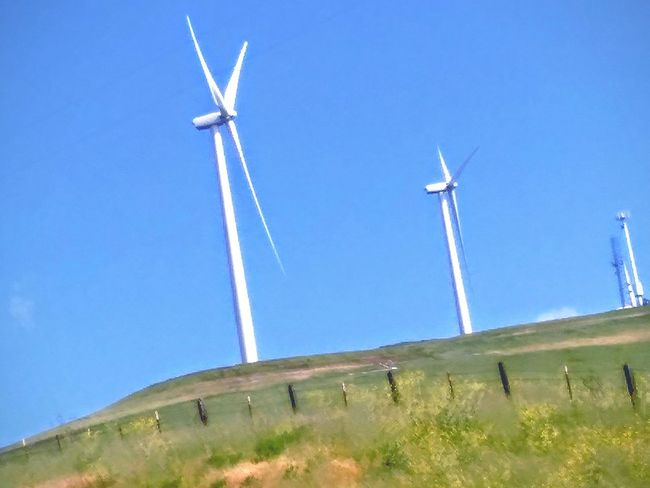 Taking Photos Hello World Wind Turbine Wind Power Wind Turbines On A Field My Point Of View Telling Stories Differently This Week On Eyeem Green Hillside Green Freeway Scenery Drive By Photography Road Side View Highway 580 Driving