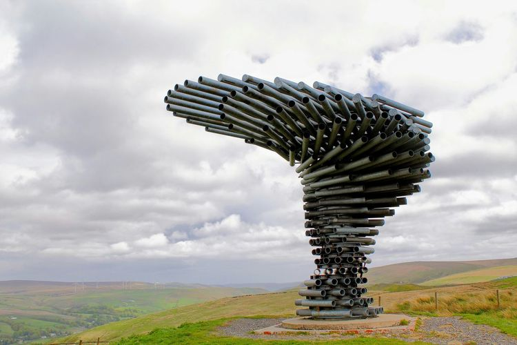 The Singing Ringing Tree - a wind powered sound sculpture in the Pennine Hills overlooking Burnley, England Singingringingtree Lancashire Burnley England Sculpture Architecture Landmark Landscape Sound Amazing Architecture
