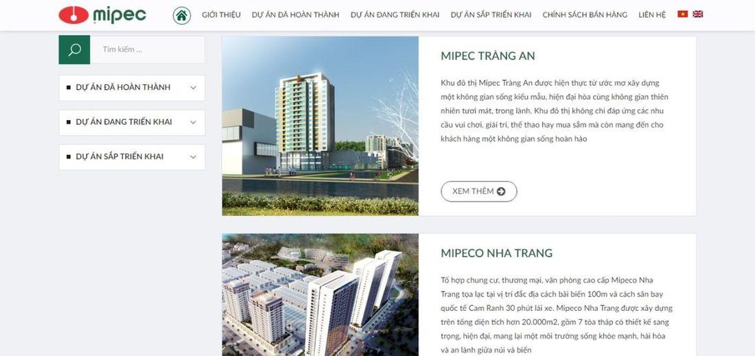 Apecsoft thiết kế website bất động sản – bất động sản MIPEC Thiết kế website bất động sản đòi hỏi tính hiện đại, hiệu ứng đẹp, nội dung rõ ràng. Apecsoft sẽ có phương án thiết kế phù hợp cho từng mục. Design Website Thiet Ke Website Bat Dong San Communication Design