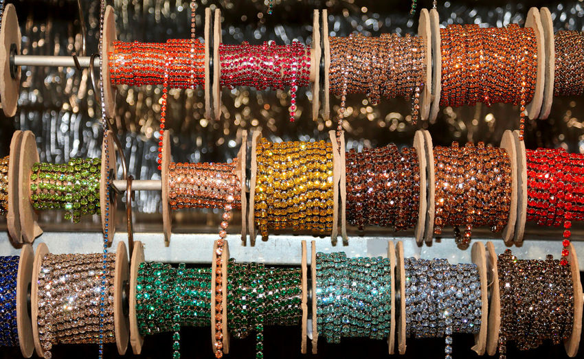 Shimmering coils to make necklaces for sale