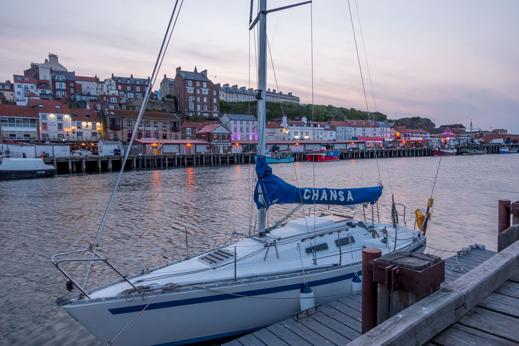 Whitby Whitby Harbour Whitby View Whitby North Yorkshire North Yorkshire North Yorkshire Coast Seaside Seaside Town Coastal Yacht Passenger Craft Marina Outdoors Cloud - Sky Pier Sky Built Structure Water Nautical Vessel Mast Sea Harbor Moored Sailboat Travel